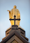 Oct. 25, 2011; Mary statue atop the Main Building..Photo by Matt Cashore/University of Notre Dame