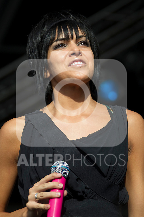 MADRID (06/06/2010).- 'El sueno de Morfeo' with Raquel del Rosario, Fernando Alonso's wife as vocalist, perform during concert at Rock in Rio in Madrid. ..Photo: Cesar Cebolla / ALFAQUI