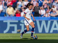 PARIS,  - JUNE 16: Christen Press #23 dribbles forward during a game between Chile and USWNT at Parc des Princes on June 16, 2019 in Paris, France.