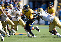 September 4, 2010:  Isi Sofele of California fights through the line of scrimmage during a game against UCLA at Memorial Stadium in Berkeley, California.   California defeated UCLA 35-7