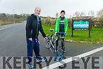 Measuring the Route for the marathon. Pictured Martin O'Sullivan Race Director, Tralee Marathon, and Tom Foley