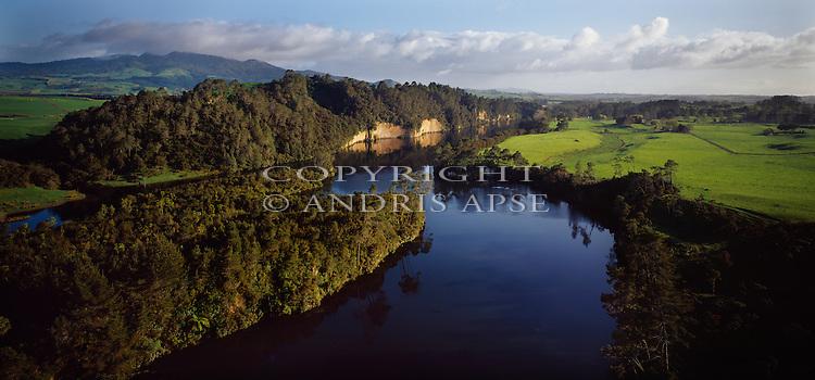 Waikato River. Waikato Region. New Zealand.