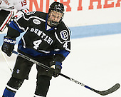 Tanner Jago (Bentley - 4) - The visiting Bentley University Falcons defeated the Northeastern University Huskies 3-2 on Friday, October 16, 2015, at Matthews Arena in Boston, Massachusetts.