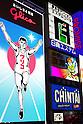Osaka, JP - January 21, 2015 : The big Glico Running Man and other neon signs at the Dotonbori shopping district of Osaka, Japan. (Photo by Rodrigo Reyes Marin/AFLO)