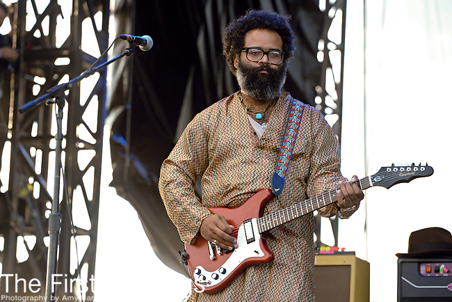 Kyp Malone of TV on the Radio performs during Day 3 of the Voodoo Experience at City Park in New Orleans, Louisiana on October 30, 2011.