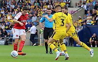 Fleetwood Town's Bobby Grant tries to find a way round Oxford United's Luke Garbutt<br /> <br /> Photographer David Shipman/CameraSport<br /> <br /> The EFL Sky Bet League One - Oxford United v Fleetwood Town - Saturday August 11th 2018 - Kassam Stadium - Oxford<br /> <br /> World Copyright &copy; 2018 CameraSport. All rights reserved. 43 Linden Ave. Countesthorpe. Leicester. England. LE8 5PG - Tel: +44 (0) 116 277 4147 - admin@camerasport.com - www.camerasport.com