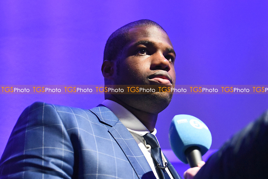 Daniel Dubois during a Press Conference at the BT Tower on 7th February 2020