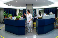 Day Hospital del reparto chemioterapia dell'Istituto Europeo di Oncologia (IEO). Milano, 22 dicembre, 2007.<br />