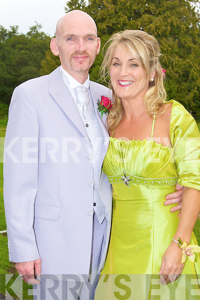 FORM FILLED: The wedding of Colm O'Brien and Fiona Barry at Ballyseede Castle on Thursday.