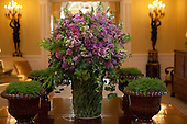 A floral arrangement, created by White House Florist Laura Dowling for the State Visit honoring Mexico, sits in a hallway in the Residence of the White House, Wednesday, May 19, 2010..Mandatory Credit: Samantha Appleton - White House via CNP