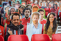 7th July 2020; City Ground, Nottinghamshire, Midlands, England; English Championship Football, Nottingham Forest versus Fulham; Some famous faces in the cardboard crowd at the Forest ground