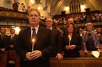 Jean Charest<br /> , hommage aux victimes du 11 septembre <br /> <br /> <br /> PHOTO : Agence Quebec Presse