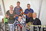 Kerry musicians traveled far and wide to perform last Sunday afternoon in Beal Lodge, l-r: Doloras and Paudie Stack(Tralee), Nicholas Burke(Ballyduff), Tom Costello(Finuge) and Finbar Roche(Abbeydorney)