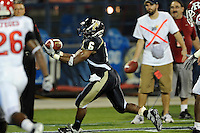 11 September 2010:  FIU running back Jeremiah Harden (6) pulls in a Wesley Carroll pass for a touchdown in the third quarter as the Rutgers Scarlet Knights defeated the FIU Golden Panthers, 19-14, at FIU Stadium in Miami, Florida.
