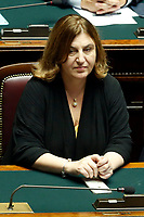 Minister of Labour Nunzia Catalfo<br /> Rome September 9th 2019. Lower Chamber. Programmatic speech of the new appointed Italian Premier at the Chamber of Deputies to explain the program of the yellow-red executive. After his speech the Chamber is called to the trust vote at the new Government. <br /> Foto  Samantha Zucchi Insidefoto