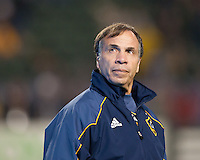 CARSON, CA - November 20, 2011: LA Galaxy head coach Bruce Arena before the MLS Cup match between LA Galaxy and Houston Dynamo at the Home Depot Center in Carson, California. Final score LA Galaxy 1, Houston Dynamo 0.