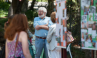 Peter Dreier, chair, E.P. Clapp Distinguished Professor of Politics, Politics, Urban & Environmental Policy Institute. Occidental College alums enjoy a long weekend of activities and festivities both on campus and off during Alumni Reunion Weekend, June 22, 2013 by touring the UEPI garden, led by UEPI faculty. (Photo by Marc Campos, Occidental College Photographer)
