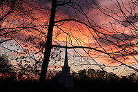 December Sky Clouds North Carolina USA By Jonathan Green