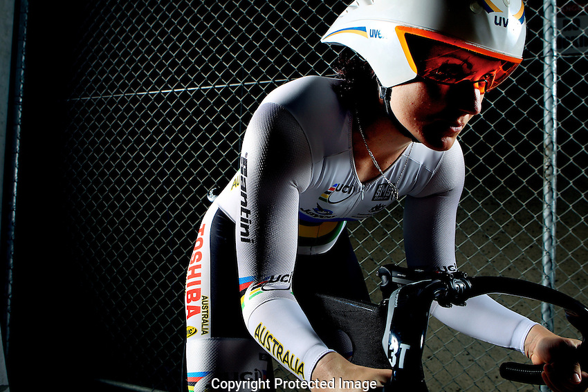 Triple World Cycling Champion Anna Mears at Dunc Gray Veledrome. (Photo: Steve Christo)