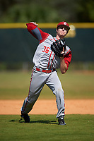 Indiana Hoosiers second baseman Colby Stratten (36) during practice before a game against the Illinois State Redbirds on March 4, 2016 at North Charlotte Regional Park in Port Charlotte, Florida.  Indiana defeated Illinois State 14-1.  (Mike Janes/Four Seam Images)