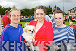 Emer Wright, Laura Dempsey and Nadine Bermingham Tralee with Baloo their Tibetan Spaniel at the Tralee and District 40th Anniversary All Breed Championship in Castleisland on Saturday..