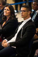 Cristiano Ronaldo and his mother Maria Dolores dos Santos Aveiro during the renews of Cristiano Ronaldo's contract with Real Madrid until 2021 at Santiago Bernabeu Stadium in Madrid. November , 2016. (ALTERPHOTOS/Borja B.Hojas) ///NORTEPHOTO.COM