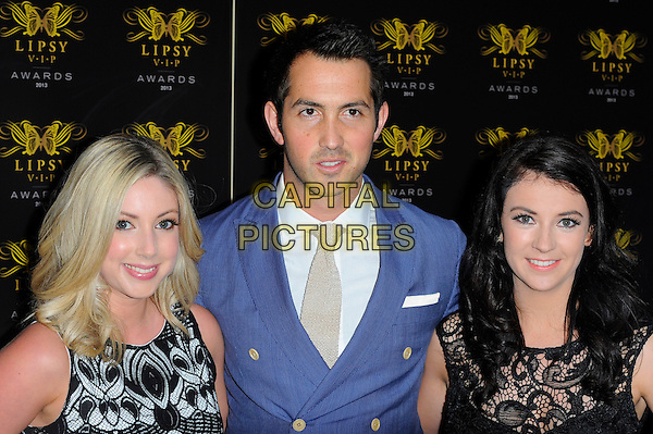 Amore<br /> The Lipsy VIP Fashion Awards 2013 at DSTRKT, London, England.<br /> May 29th, 2013<br /> headshot portrait black lace white blue suit band group <br /> CAP/CJ<br /> &copy;Chris Joseph/Capital Pictures