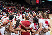STANFORD, CA -- November 11, 2018. The Stanford Cardinal women's basketball team defeats the Idaho Vandals 115-71 at Maples Pavilion.
