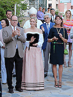 Prince Albert, Charlene & Caroline attend the Monaco Traditional Picnic