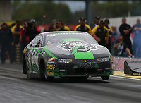 Sep 1, 2017; Clermont, IN, USA; NHRA pro stock driver Alex Laughlin during qualifying for the US Nationals at Lucas Oil Raceway. Mandatory Credit: Mark J. Rebilas-USA TODAY Sports
