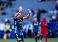 """CARSON, CA - FEBRUARY 15: Javier """"Chicharito"""" Hernandez #14 of the Los Angeles Galaxy during a game between Toronto FC and Los Angeles Galaxy at Dignity Health Sports Park on February 15, 2020 in Carson, California."""