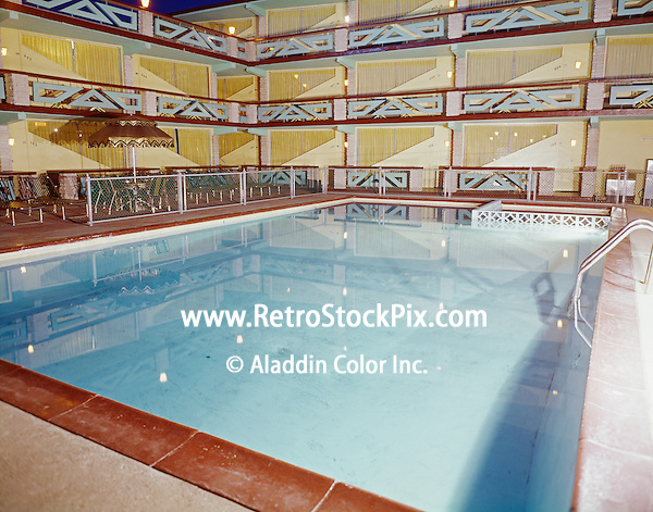 Satellite Motel, Wildwood, NJ - 1960's  Night Pool