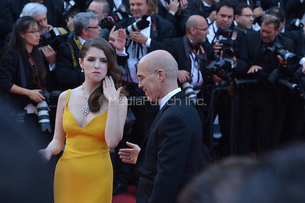Jeffrey Katzenberg and Anna Kendrick at &quot;Cafe Society&quot; &amp; Opening Gala arrivals - The 69th Annual Cannes Film Festival, France on May 11, 2016.<br /> CAP/LAF<br /> &copy;Lafitte/Capital Pictures /MediaPunch ***NORTH AND SOUTH AMERICAN SALES ONLY***