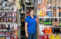 Elda Leon Corral. Hardware store owners in Mexicali, Baja California, Mexico