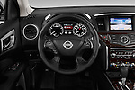 Car pictures of steering wheel view of a 2015 Nissan Pathfinder Sl 2Wd 5 Door Suv 2WD Steering Wheel