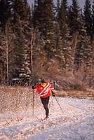 Dona Hawkins, Cross country skiing, ski trails at the University of Alaska, Fairbanks, Alaska