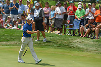 Rory McIlroy (NIR) sinks his par putt on 3 during 4th round of the World Golf Championships - Bridgestone Invitational, at the Firestone Country Club, Akron, Ohio. 8/5/2018.<br /> Picture: Golffile | Ken Murray<br /> <br /> <br /> All photo usage must carry mandatory copyright credit (© Golffile | Ken Murray)