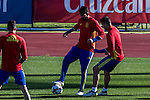 Spainsh Diego Costa and Lucas Vazquez during the training of the spanish national football team in the city of football of Las Rozas in Madrid, Spain. November 10, 2016. (ALTERPHOTOS/Rodrigo Jimenez)