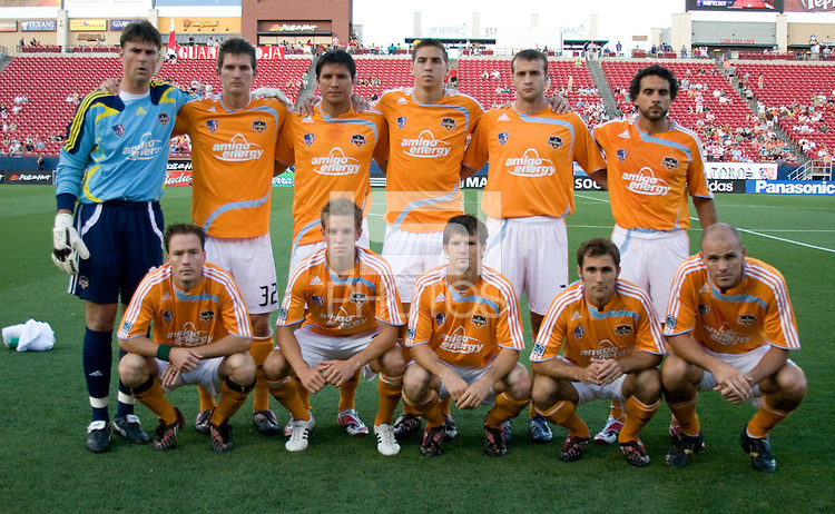 Houston Dynamo Starting XI. Houston Dynamo vs FC Dallas at Pizza Hut Park in Frisco, Texas May-28-2008. Final Score 2-2