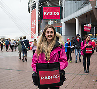 A radio seller outside of the stadium<br /> <br /> Photographer Simon King/CameraSport<br /> <br /> International Rugby Union - 2017 Under Armour Series Autumn Internationals - Wales v Australia - Saturday 11th November 2017 - Principality Stadium - Cardiff<br /> <br /> World Copyright &copy; 2017 CameraSport. All rights reserved. 43 Linden Ave. Countesthorpe. Leicester. England. LE8 5PG - Tel: +44 (0) 116 277 4147 - admin@camerasport.com - www.camerasport.com