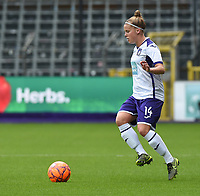 20190813 - ANDERLECHT, BELGIUM : Anderlecht's Laura Deloose pictured during the female soccer game between the Belgian RSCA Ladies – Royal Sporting Club Anderlecht Dames  and the Northern Irish Linfield ladies FC , the third and final game for both teams in the Uefa Womens Champions League Qualifying round in group 8 , Tuesday 13 th August 2019 at the Lotto Park Stadium in Anderlecht  , Belgium  .  PHOTO SPORTPIX.BE   DIRK VUYLSTEKE