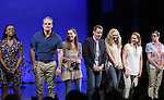 Kristolyn Lloyd, Michael Park, Laura Dreyfuss, Ben Platt, Rachel Bay Jones, Jennifer Laura Thompson, and Will Roland during the Broadway Opening Night Performance Curtain Call for 'Dear Evan Hansen'  at The Music Box Theatre on December 3, 2016 in New York City.