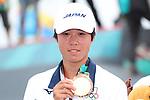 Keyaki Ike (JPN), <br /> AUGUST 29, 2018 - Skateboarding : <br /> Medal Ceremony <br /> at Jakabaring Sport Center Skatepark <br /> during the 2018 Jakarta Palembang Asian Games <br /> in Palembang, Indonesia. <br /> (Photo by Yohei Osada/AFLO SPORT)