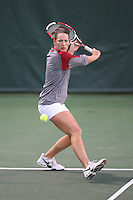 STANFORD, CA - JANUARY 28:  Lindsay Burdette of the Stanford Cardinal during Stanford's 7-0 win over the UC Davis Aggies on January 28, 2009 at the Taube Family Tennis Stadium in Stanford, California.
