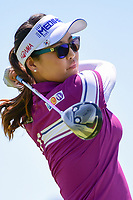 So Yeon Ryu (KOR) watches her tee shot on 2 during Sunday's final round of the 72nd U.S. Women's Open Championship, at Trump National Golf Club, Bedminster, New Jersey. 7/16/2017.<br /> Picture: Golffile | Ken Murray<br /> <br /> <br /> All photo usage must carry mandatory copyright credit (&copy; Golffile | Ken Murray)