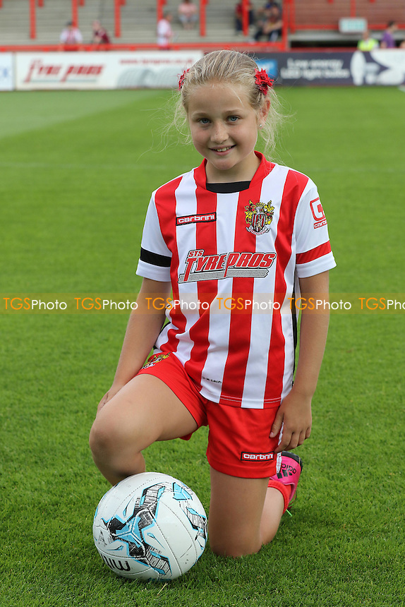 Stevenage mascot for the day during Stevenage vs Brighton and Hove Albion, Friendly Match Football at the Lamex Stadium on 23rd July 2016