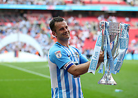 28th May 2018, Wembley Stadium, London, England;  EFL League 2 football, playoff final, Coventry City versus Exeter City; Michael Doyle of Coventry City poses with the EFL League 2 trophy