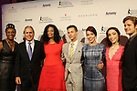 Candace Matthews with Ashley Wagner and friends and Meryl Davis & Charlie White - The 11th Annual Skating with the Stars Gala - a benefit gala for Figure Skating in Harlem - honoring Meryl Davis & Charlie White (Olympic Ice Dance Champions and Meryl winner on Dancing with the Stars) and presented award by Tamron Hall on April 11, 2016 on Park Avenue in New York City, New York with many Olympic Skaters and Celebrities. (Photo by Sue Coflin/Max Photos)