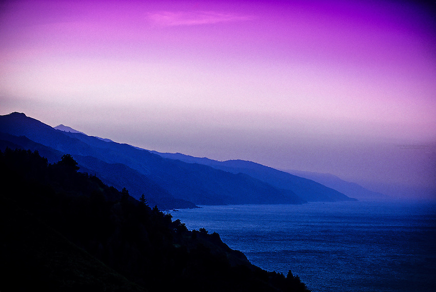 Sunrise, Big Sur coastline, Monterey County, California USA