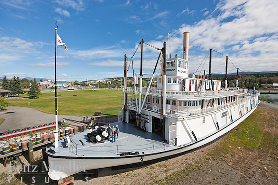 S.S. Klondike National Historic Site of Canada on the Yukon River in Whitehorse, Yukon, Canada